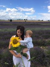 "Max Guiney ""My wife and child at Hitchin Lavender"" - 31st July 2017"