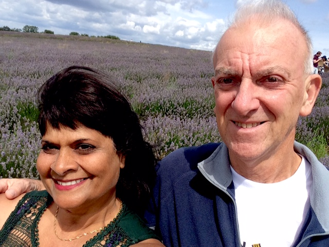 """Shelly Johnson """"Shelly and Ian Johnson amongst the Lavender!"""" - 6th August 2017"""