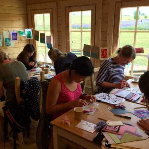 Crafting in the cabin